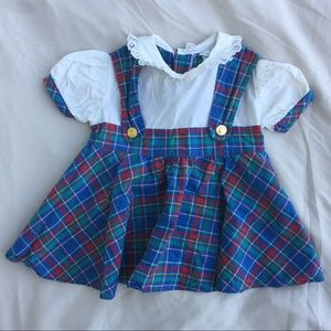 "Vintage plaid ""Mitzi"" brand dress."